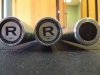 3 barbells from the plate rack