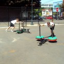 Bridgetown CrossFit Couples Prowler Push