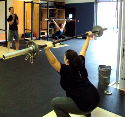 Hang Muscle Snatch + Overhead Squat