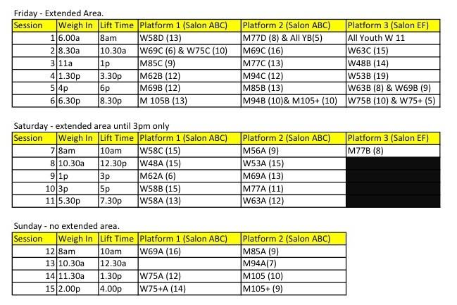 Tenative 2013 AO Live Feed Schedule