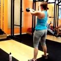 Heidi KB Swing basic Barbell Conditioning WOD at Bridgetown CrossFit
