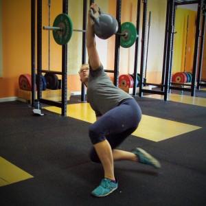 Katie Turkish Get-ups Bridgetown CrossFit Strength and Conditioning