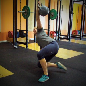 Katie Turkish Get-ups Bridgetown CrossFit Strength and Conditioning