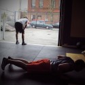 JP Done While Reed Bottom of Plank for Push-up into Burpee Bridgetown Strength and Conditioning Program Portland, OR