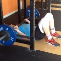 Sam Floor Press Bridgetown CrossFit and Barbell Club Floor Pressing since 2011 in Rack
