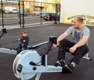 Erg Saxon and Pete Bridgetown Crossfit and Barbell Club Sign