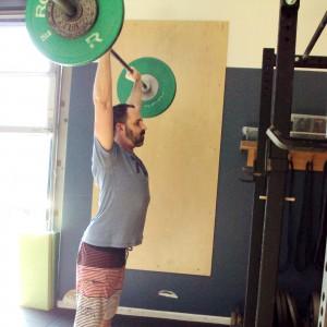 Jonathan Push Press Thruster Barbell Overhead Bridgetown Strength and Conditioning Portland OR