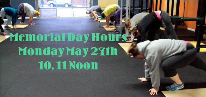 Bridgetown Crossfit and Barbell Club Memoriall Day Hours 10, 11, Noon